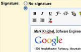 Gmail Rich text signatures