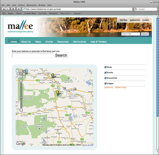 Mallee CMA Map Page