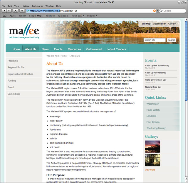 Mallee CMA About Us